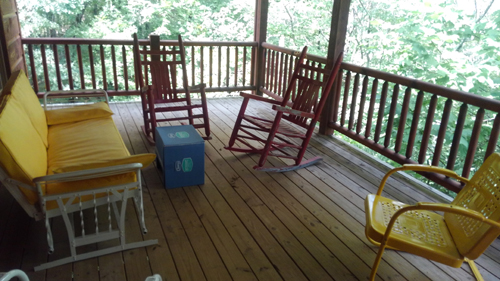Morning Star 4 Bedroom Log Cabin Deck photo in Gatlinburg - Pigeon Forge Tennessee
