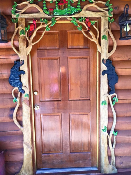 Shady Rest 2 Bedroom Log Cabin Front Door photo in Gatlinburg - Pigeon Forge Tennessee