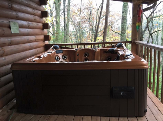 Shady Rest 2 Bedroom Log Cabin Hot Tub photo in Gatlinburg - Pigeon Forge Tennessee