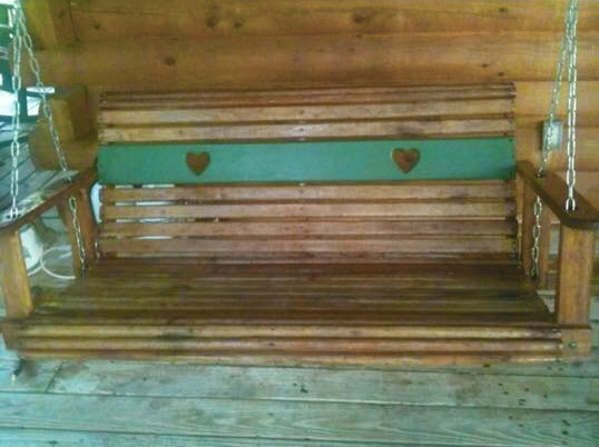 Shady Rest 2 Bedroom Log Cabin Porch Swing photo in Gatlinburg - Pigeon Forge Tennessee