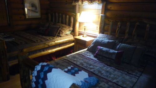 Tennessee Sunshine 3 Bedroom Log Cabin bedroom1 photo in Gatlinburg - Pigeon Forge Tennessee