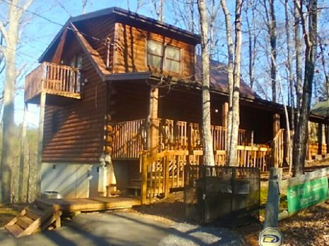 Smoky Mountain Memories 2 Bedroom Log Cabin Front photo in Gatlinburg - Pigeon Forge Tennessee